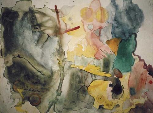 Fotograf: Eget fotoVærk  titel: Spirite Værk  type: Akvarel Materiale: Akvarel på papir Størrelse: 30 x 50 cm Færdiggjort: 1999