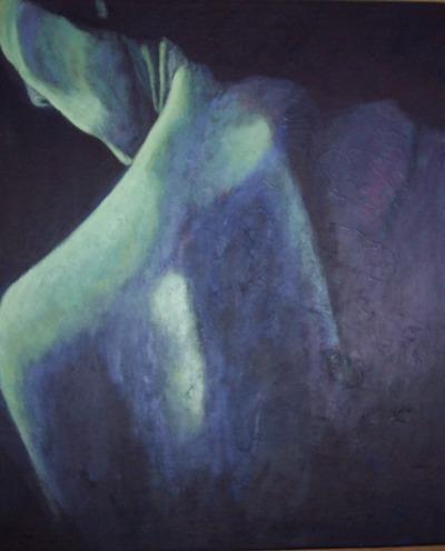 Værk ets titel: Sårbarhed Materiale: Acryl på lærred Størrelse: 60 x 80 cm Færdiggjort: 2007
