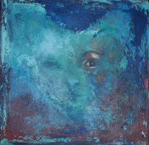 Værk ets titel:Soulmates Materiale: Acryl på lærred Størrelse: 40 x 40 cm Færdiggjort: 2005